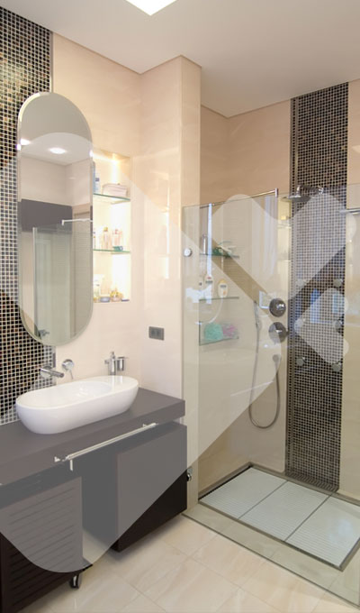 Dockx carrelages r novation salle bain transformation for Implantation salle de bain